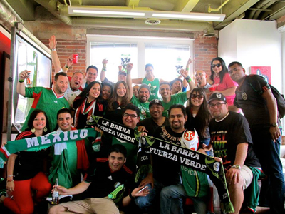 ECS's La Barra Fuerza Verde before the Mexico vs Canada Gold Cup match