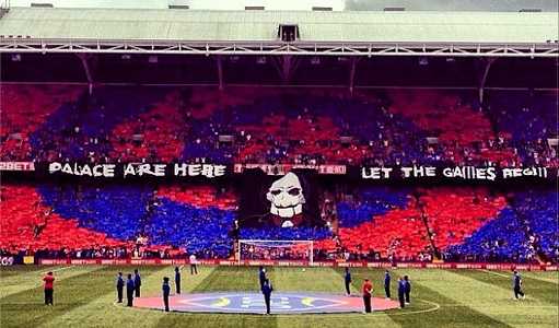 Crystal Palace tifo in 2013