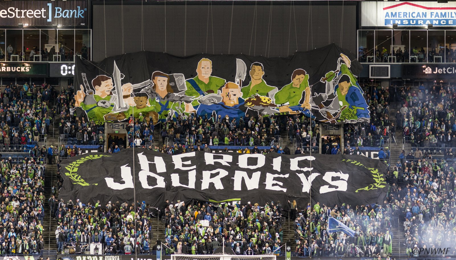 76269d27628 The Sounders warriors set out today on the heroic journey of the 2019  season. Over the next 9 months, they will fight for our city, our people  and our crest ...